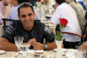 McLaren media breakfast at the Ritz Hotel: Juan Pablo Montoya