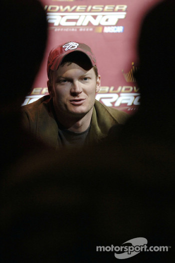 Dale Earnhardt Jr. holds a press conference at the Hard Rock Hotel