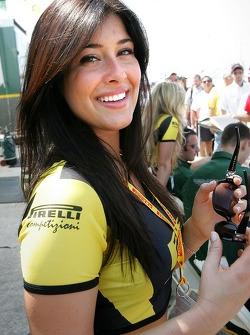 A charming Pirelli girl