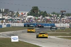 #3 Corvette Racing Corvette C6-R: Ron Fellows, Johnny O'Connell, Max Papis, #4 Corvette Racing Corvette C6-R: Oliver Gavin, Olivier Beretta, Jan Magnussen