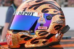 Tony Stewart's helmet sits ready