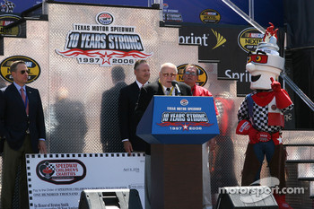 Pre-race ceremony: Bruton Smith