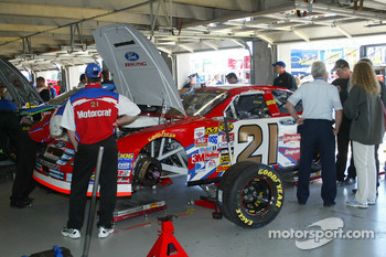 Ken Schrader's car in the garage