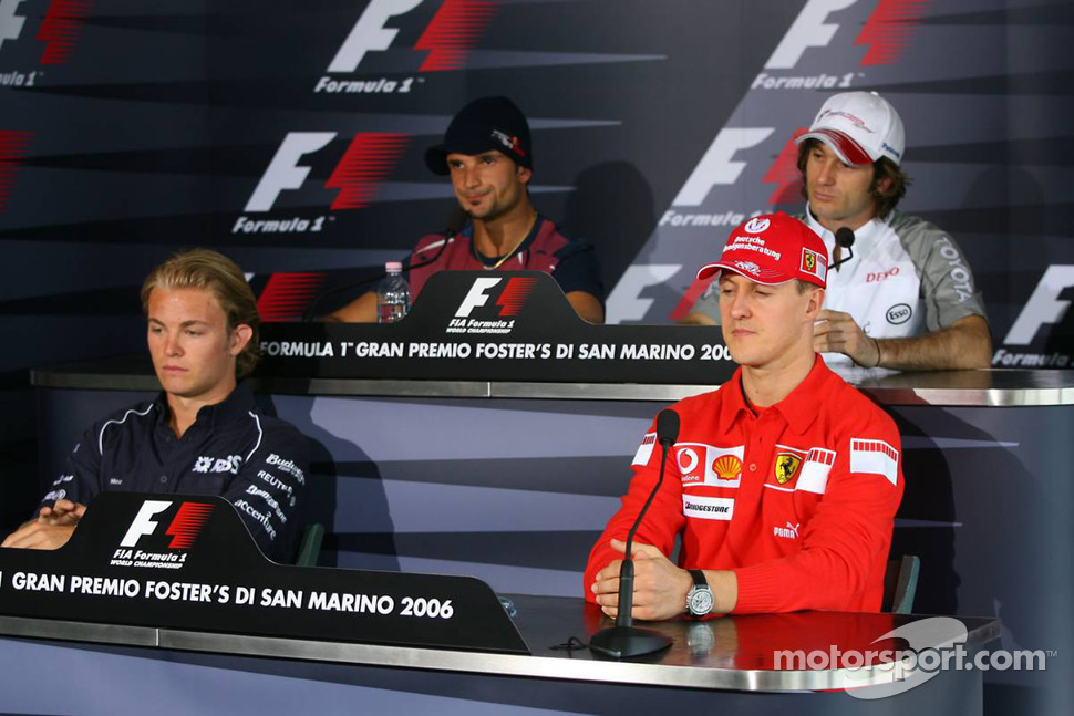 FIA press conference: Nico Rosberg, Michael Schumacher, Vitantonio Liuzzi and Jarno Trulli