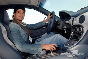 Vitantonio Liuzzi with his new Maserati GranSport