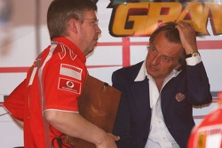 Ross Brawn and Luca di Montezemolo