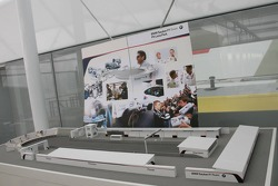 Scaled model of the BMW Sauber F1 Team 'Pitlane Park'