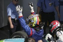 Race winner Ernesto Viso celebrates