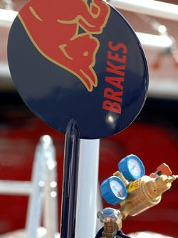 The sign of the lolipop man of Scuderia Toro Rosso