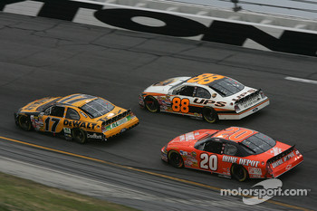 Matt Kenseth, Dale Jarrett and Tony Stewart