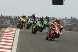 Dani Pedrosa leads the pack