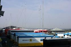 Renault F1 paddock area