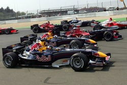 Start: Christian Klien, David Coulthard and Vitantonio Liuzzi battle