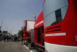 Ferrari paddock area