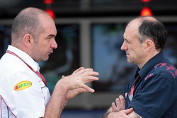 Head of development Anton Stipinovich and team principal Franz Tost