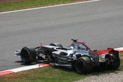 Juan Pablo Montoya out of the race