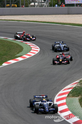Mark Webber leads Scott Speed
