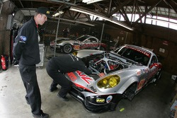Multimatic Motorsports Team Panoz crew members at work