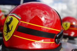 Detail of crew member's helmet