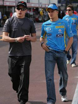 Kimi Raikkonen and Heikki Kovalainen