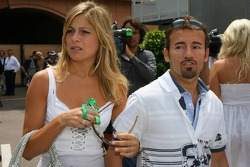 Max Biaggi with his girlfriend