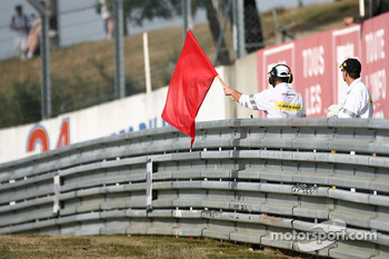 Red flag early in the session