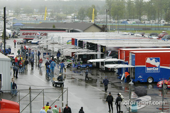 Watkins Glen garage area