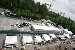 A view of the TV compound