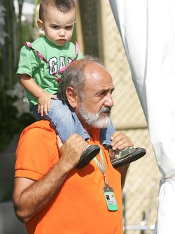 Pablo Montoya with grandson Sebastien