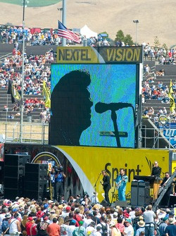 Recording Artist Chris Isaac performing at Infineon Raceway