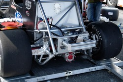 A closer look at the rear bumper and suspension.