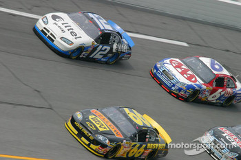 Ryan Newman, Jeff Green and Mark Martin