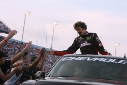 Pole sitter Boris Said greets fans during driver introductions