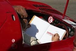 Nino Vaccarella Signs Targa Florio Book