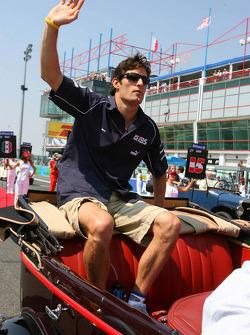 Drivers parade: Mark Webber