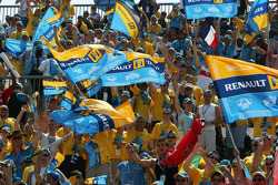 Renault fans in the grandstand
