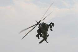 AH-64 Apache flyover