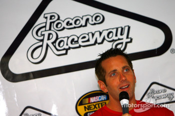 Greg Biffle responds to questions at a press confrence