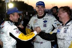 #4 Corvette Racing Corvette C6-R: Oliver Gavin, Olivier Beretta celebrate there victory in GT1