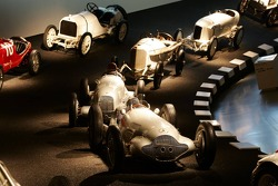 DaimlerChrysler Mercedes media warmup event: historical racing cars in the Mercedes-Benz museum in Stuttgart