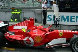 Michael Schumacher passes Nico Rosberg