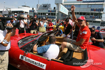 Drivers parade: Michael Schumacher