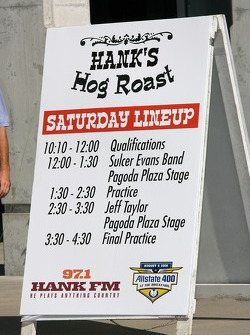 Hog Roast is a highlight of qualification day for the Allstate 400 at the Brickyard