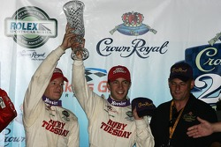 Podium: third place Mike Rockenfeller and Patrick Long