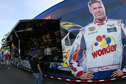 Merchandising area of Ricky Bobby