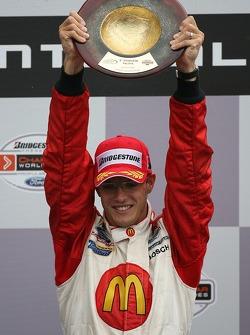 Podium: race winner Sébastien Bourdais