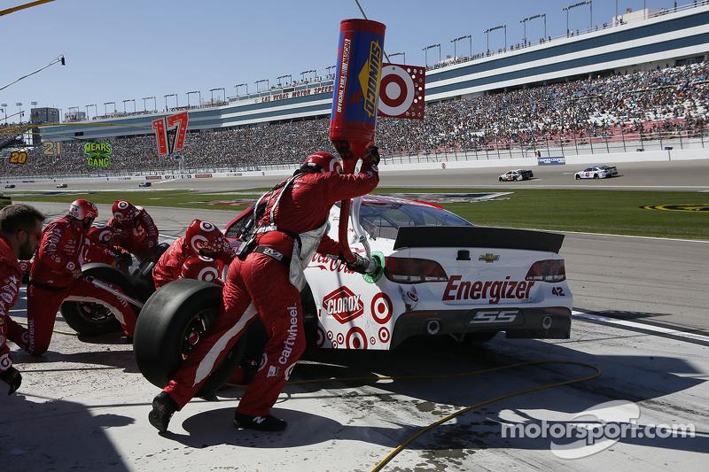 Boxenstopp eines NASCAR-Teams