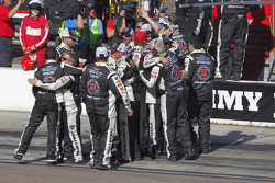 The Stewart-Haas Racing team celebrates Kevin Harvick's win