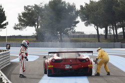 AF Corse Ferrari F458 Italia: Mads Rasmussen, Filipe Barreiros, Francisco Guedes stopped on track