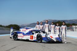 #1 Toyota Racing Toyota TS040 with drivers Stéphane Sarrazin, Mike Conway, Alexander Wurz, Anthony Davidson, Sebastien Buemi, Kazuki Nakajima